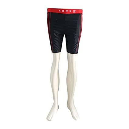 Buy Sportswell Black Red Color Swimming Costume For Mens Small