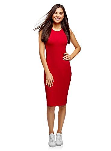 (oodji Ultra Women's Cotton Bodycon Dress, Red,)