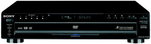 (Sony DVPNC665P/B 5-Disc Progressive Scan DVD Changer, Black)
