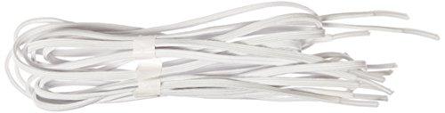 Maddak Perma-Ty 24 White Elastic Shoelaces (Pack of 3 Pairs) (738130024)