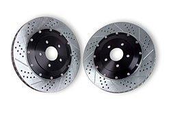 Baer 2262001 Standard Drilled/Slotted - ES+, Slot, Drill, Zinc EradiSpeed Two Piece Brake Rotor ()