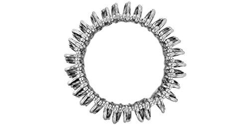 Metal Pointu's Bracelet Tourbillon plaqué argent, XL, Ø60mm