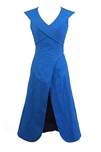 GOTEDDY Halloween Daenerys Cosplay Blue Dress Women Party Costume (L)]()