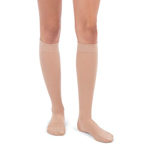 (Jomi Compression Knee High Stockings Collection, 20-30mmHg Surgical Weight Closed Toe 220 (Large, Beige) )
