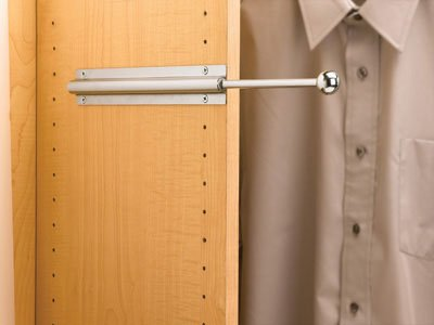 One Piece (CVL-12-SN) Shelf standard. Rev-A-Shelf Standard Valet Rod 12in Satin Nickel