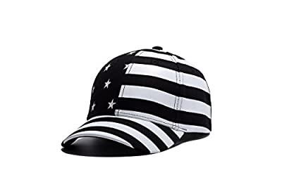 WUKE Baseball Cap, Adult/Unisex Colorless USA American Flag Stars and Stripes Embroidery Curved Brim, Outdoor Recreation Adjustable Hip-hop Hat by WUKE