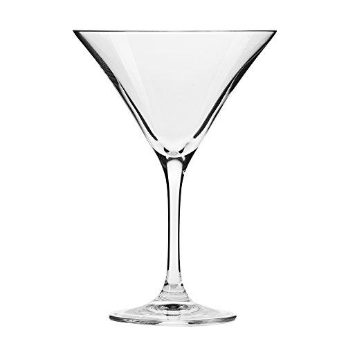 Household Essentials KROSNO Handmade Bond Martini Glasses (Set of 6), 5 oz, Clear - 5 Ounce Martini Glass