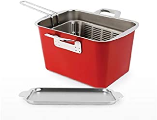 HAPPYCALL 3-Piece Stainless Steel Deep Fryer set with basket, 11.5