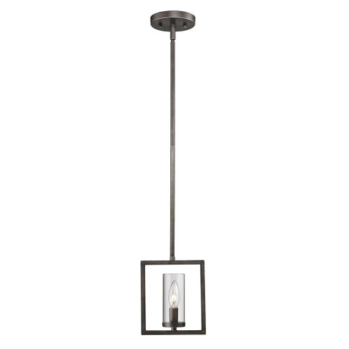 Golden Lighting 6068M1LGMT  Pendant with Clear Glass Shades,  Gunmetal Bronze Finish - Marco Modern Pendant