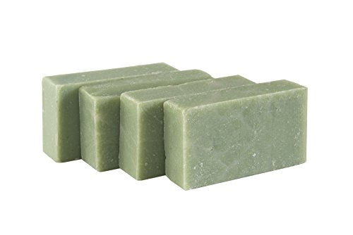 Eucalyptus Spearmint Soap Bar (SET of 4) - Handmade Soap Bar with Refreshing Mint, Eucalyptus and Essential Oils- Organic and All-Natural – by Falls River Soap (Eucalyptus Organic Bar Soap)