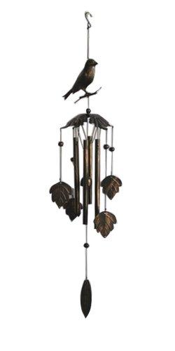 Jade Garden 3840501 Bird on Top Metal Wind Chime