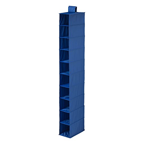 Honey Can Do SFT 01276 Hanging Shoe Organizer, Blue, 10 Shelf
