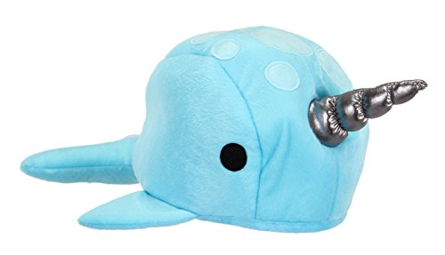 elope Blue Narwhal Plush Hat -