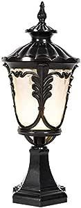 Mopoq Outdoor European-Style E27 Column Headlight Street Lamp Community Garden Door Column Headlight Outdoor Villa IP65 Waterproof Enclosure Aluminum Post Lamp