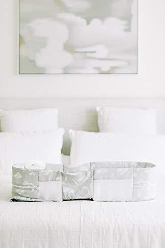 3142W5y4ccL - Baby Delight Snuggle Nest Harmony Infant Sleeper | Silver Clouds Fabric Pattern | Portable Sleeper With Sound & Light Unit | Waterproof Foam Mattress W/ Sheet