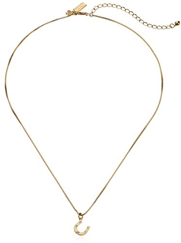 kate spade new york Horseshoe Pendant Necklace, 17