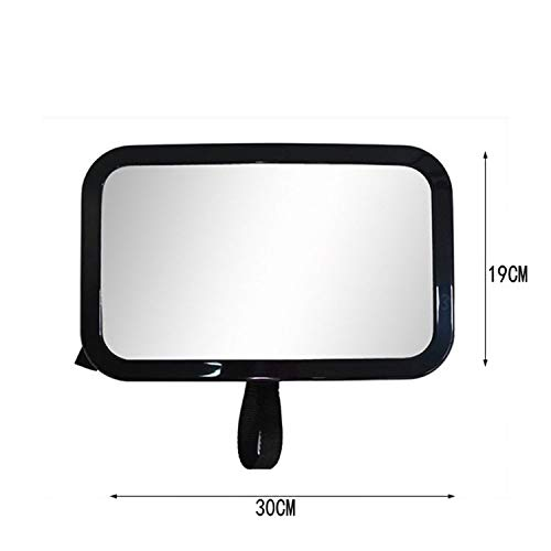 New Baby Car Mirror for Rear View Car Baby Rearview Mirror car Baby Observation Mirror car Child Reverse Safety Mirror Easy Installation (Color Name : Black)