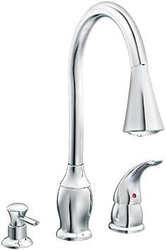 Chrome Kitchen Faucet Moen Inc 87555c Touch On Kitchen Sink Faucets Amazon Com
