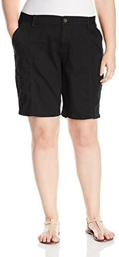LEE Womens Plus Size Relaxed-fit Avey Knit-Waist Cargo Bermuda Short