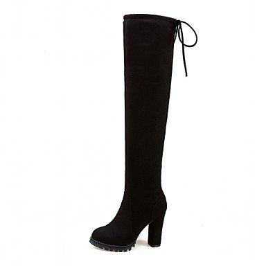 Botines Botas Innovador Moda Zapatos Botas black Hasta Tacón Semicuero Confort de Pajarita Invierno redondo Robusto DESY Tobillo el Mujer Otoño Dedo gpcBzWngZq