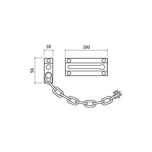 GLK 300lc cha/îne de s/écurit/é pour porte chrome