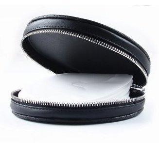 CD Case Holder Portable Leather 30 Disc CD DVD Wallet Storage Organizer Travel Bag Disc Bag for Car, Home, Office and Travel(Black)