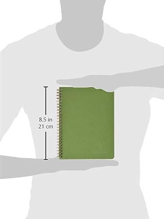 Clairefontaine 785323C Taccuino Rilegatura a Spirale 21.1 x 17 x 0.6 cm Verde Muschio