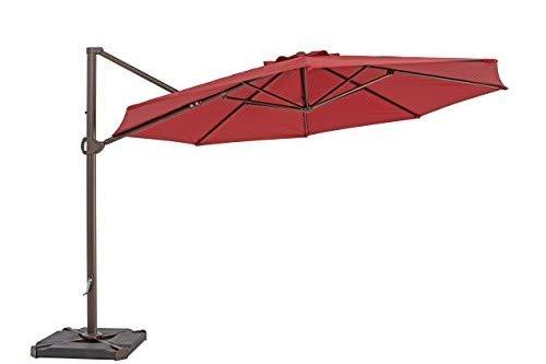 TrueShade Plus UR118PJR Cantilever Octagon Umbrella, 11.5', Jockey Red ()