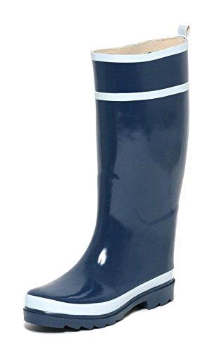 Damen Regengummistiefel Gummistiefel Regenstiefel Stiefel blau