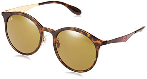 Ray-Ban RB4277F Emma Round Asian Fit Sunglasses, Matte Tortoise/Brown, 53 ()