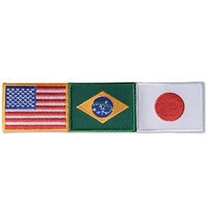 USA America /Brazil / Japan Patch - Small (Japanese Martial Arts Patches)