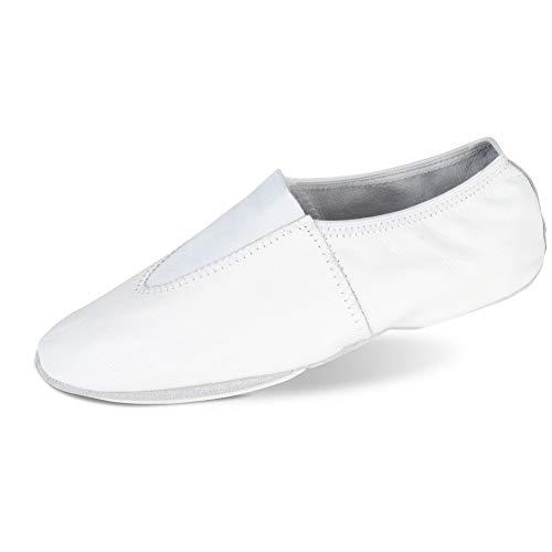 (Danshuz Kid's Gymnatic Soft Dance White Loafers 2 M)