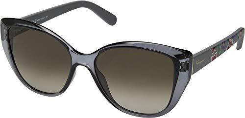 Salvatore Ferragamo Women's SF912SL Grey/Grey Gradient One Size -