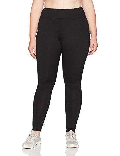 Just My Size Women's Plus Size Active Run Legging, Black, 3X
