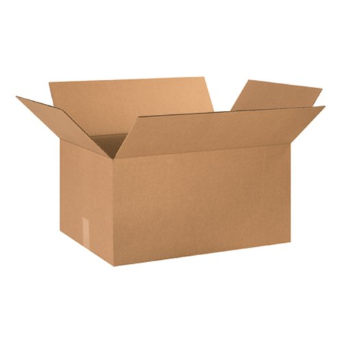 "Aviditi 241612 Corrugated Box, 24"" Length x 16"" Width x 12"" Height, Kraft (Bundle of 10)"