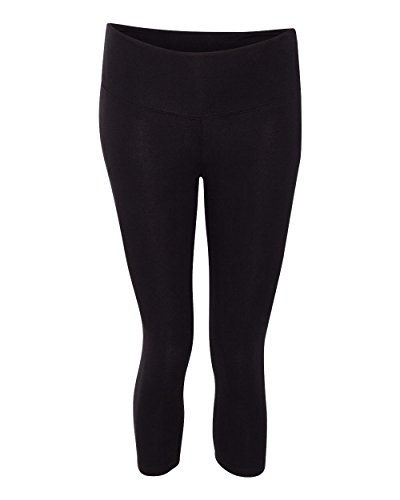Bella 0811 Womens Cotton Spandex Capri Fit Legging - Black, Medium