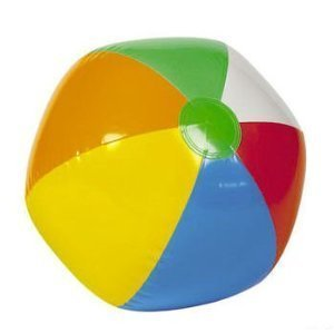 24 Mini BEACH BALLS/6-Panel Traditional Style Rainbow 6'' BEACHBALLS/Pool Party FAVORS/WEDDING/Decorations/LUAU/2 DOZEN by OTC
