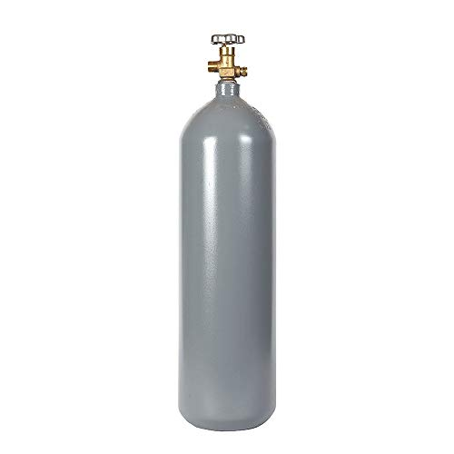 - 15 lb Steel CO2 Cylinder, Recertified, with New CGA320 Valve and Fresh Hydro Test