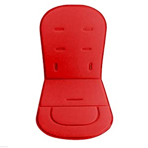 Baby Stroller Cushion Liner Pushchairs Car Seat Mat Universal Baby Stroller Mat (Red)