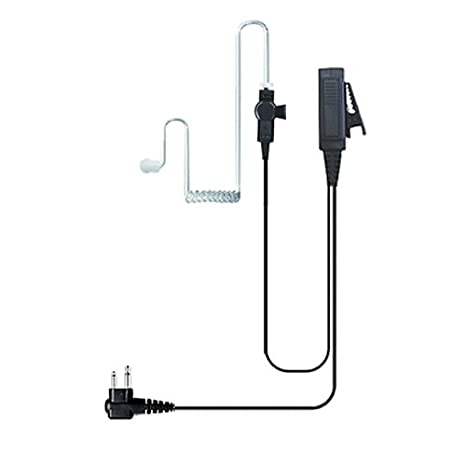 Amazon.com: Valley Enterprises 2-Wire Coil Earbud Audio Mic ... on motorola hand mic wiring, motorola hmn plug rj45 pin out, cobra 4 pin wiring diagram, motorola mcs2000 accessory pin out, 4 pair microphone wiring diagram, motorola single pin diagram,