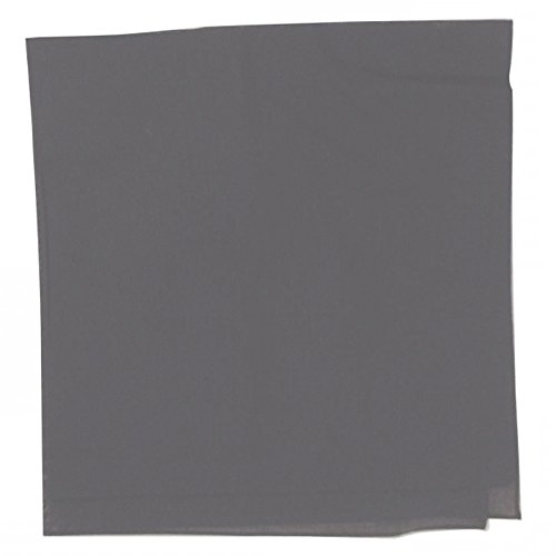 (Solid 100% Cotton Unisex Bandana - 12 Pack Gray 22 in)