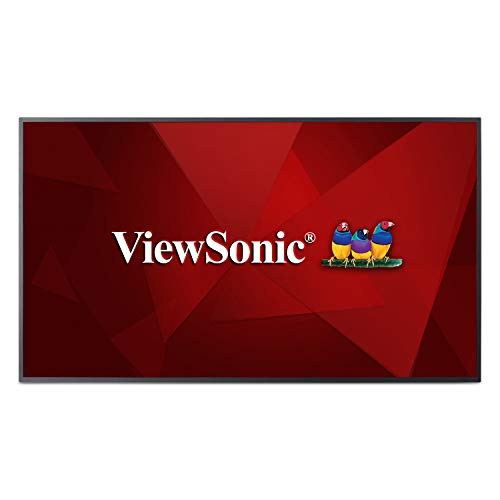 ViewSonic CDE5510 55 Inch 4K Commercial Display with Quad-Core CPU, Android SoC, HDMI, DVI, VGA from ViewSonic