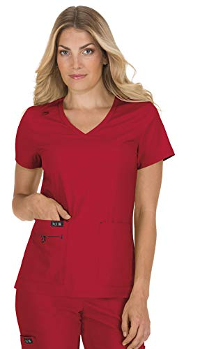 KOI Basics 373 Women's Becca Scrub Top Ruby L