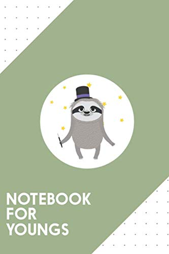 """Notebook for Youngs: Dotted Journal with Magician Sloth with wand Design - Cool Gift for a friend or family who loves magic presents!   6x9""""   180 ... Brainstorming, Journaling or as a Diary"""
