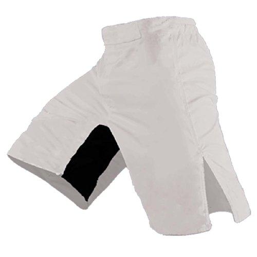 Blank MMA Shorts (White, 38) (White Shorts Mma)