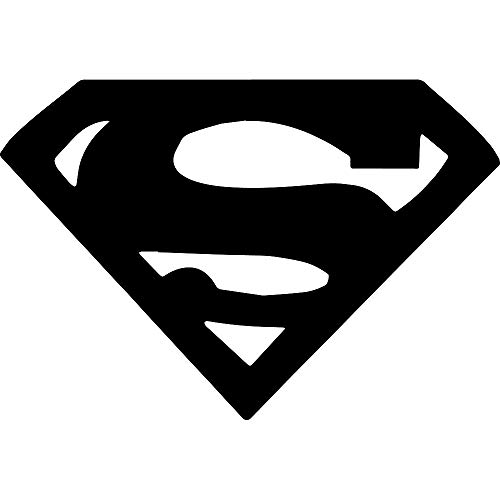 ANGDEST Movie Film Superman Emblem (Black) (Set of 2) Premium Waterproof Vinyl Decal Stickers for Laptop Phone Accessory Helmet Car Window Bumper Mug Tuber Cup Door Wall Decoration ()