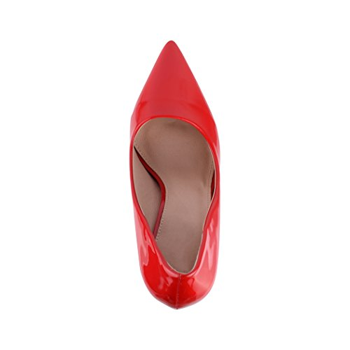 pump scarpe Rot eleganti chunkyrayan Elara con punta comode con con a tacco Paris tacco stiletto dICwOqAx