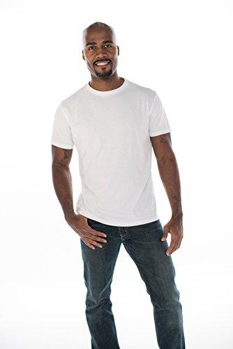 - ONNO Men's Bamboo T-Shirt XL White