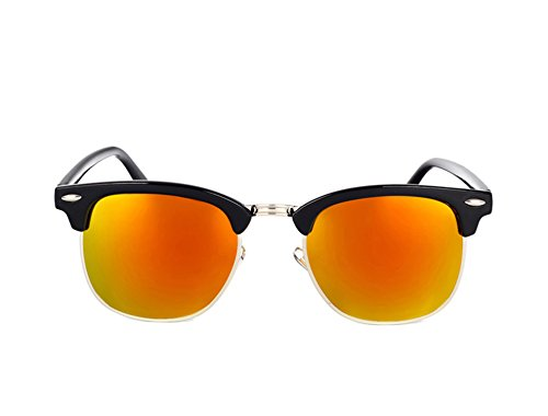 Price comparison product image Dormery Square Polaroid Men Sunglasses Women Brand Designer Fashionsun glasses oculos de sol feminino MA016 NO3 Red Mirror