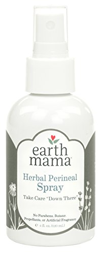 Herbal Perineal Spray by Earth Mama | Safe for Pregnancy and Postpartum, Natural Cooling Spray for After Birth, Benzocaine and Butane-Free 4-Fluid ()